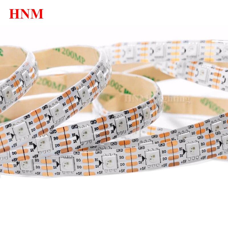 5M 60LED s/m Smart RGB 5050 WS2813 LED rampe d'éclairage à LED Pixel Bande Ruban Flexible TÉLÉVISEUR Ambilight Ruban Blanc/Noir PCB IP20/IP65/IP67