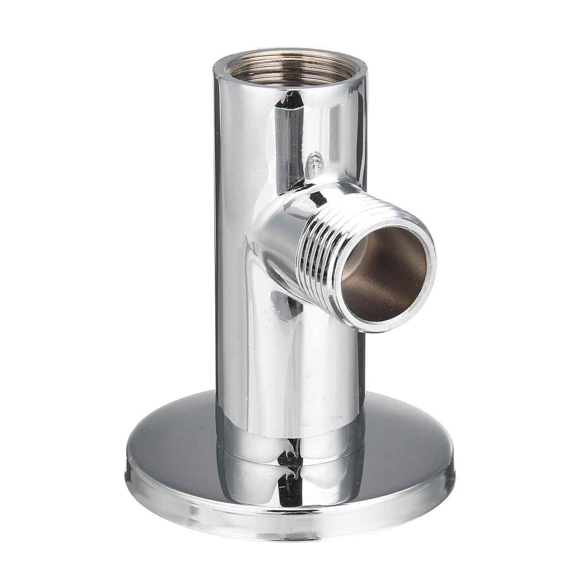"""Brazo de extensión de ducha montado en la pared de 49cm G1/2 """", tubo Extra en ángulo, manguera de acero inoxidable para ducha de lluvia, accesorios de baño"""