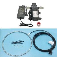 12V 5L/Min Misting Pump 160 PSI High Pressure Booster Diaphragm Water Pump with Mist Fan Ring System Fine Foger Cooling System