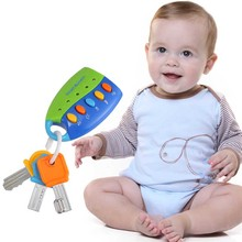 Cartoon Baby Kids Musical Smart Remote Car Key Toy Voices Pretend Play Toys YJS Dropship