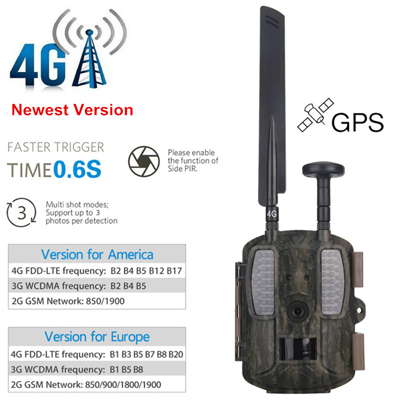4g Chasse Caméra FTP MMS Email GPS Chasse Caméra 4g Scoutisme Infrarouge Chasseur Caméra Photo Pièges WildKamera Numérique foto Chasse