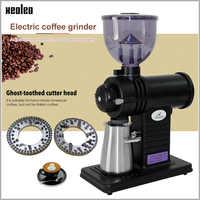 Xeoleo moulin à café électrique roue plate broyeur à café meunier Superhard fantôme dent cutter café fraiseuse 10 étapes