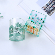 Dried Flower Resin Silicone Mould Transparent  DIY Storage Pen holder Mold   Decorative Craftepoxy resin molds for jewelry 2019 new multi function storage mobile phone holder pen holder silicone clay mould epoxy resin decorative craft diy clay molds