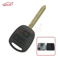 Kigoauto Remote key 2 button TOY47 434mhz no chip for Toyota RAV4 Corolla Yaris