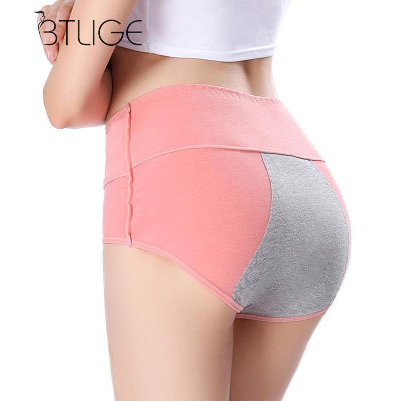 BTLIGE Women physiological Intimates Plus Size High Waist   Panties   Waterproof Leakproof Underwear Female Laidies