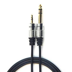 Image 1 - 3,5mm zu 6,5mm Adapter Jack Audio AUX Kabel für Mixer Verstärker Gitarre Männlichen