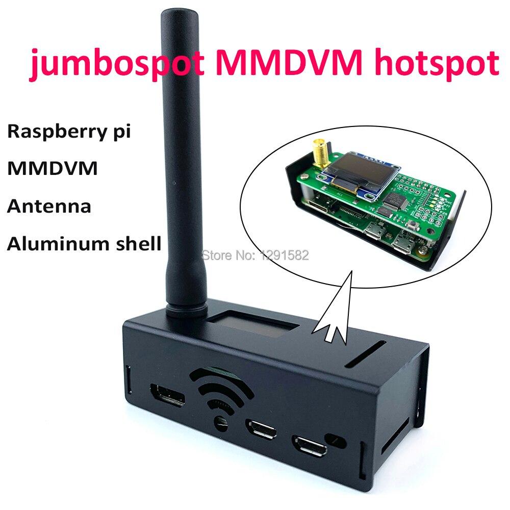 Jumbospot MMDVM hotspot Support P25 DMR YSF + raspberry pi + OLED + antenne + boîtier noir + carte TF 16G prête à QSO