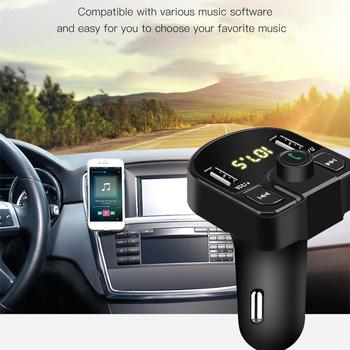Zestaw głośnomówiący zestaw samochodowy Bluetooth bezprzewodowy nadajnik FM ładowarka samochodowa LCD odtwarzacz MP3 ładowarka USB 3 1A + 1A zapalniczka TF U dysk tanie i dobre opinie kebidumei CN (pochodzenie) Plastic 0 03kg FM transmitter 3 8*4 6*7 8cm Bluetooth car charger