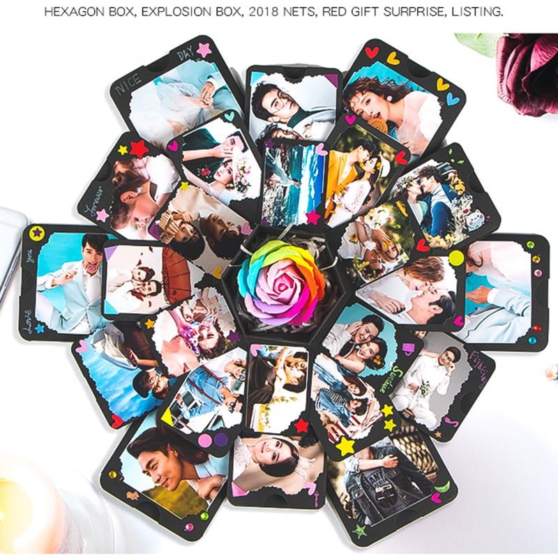 1PC DIY Surprise Love Explosion Box Gift For Valentine's Day Scrapbook Photo Album Birthday Wedding Natal Party DIY Decoration