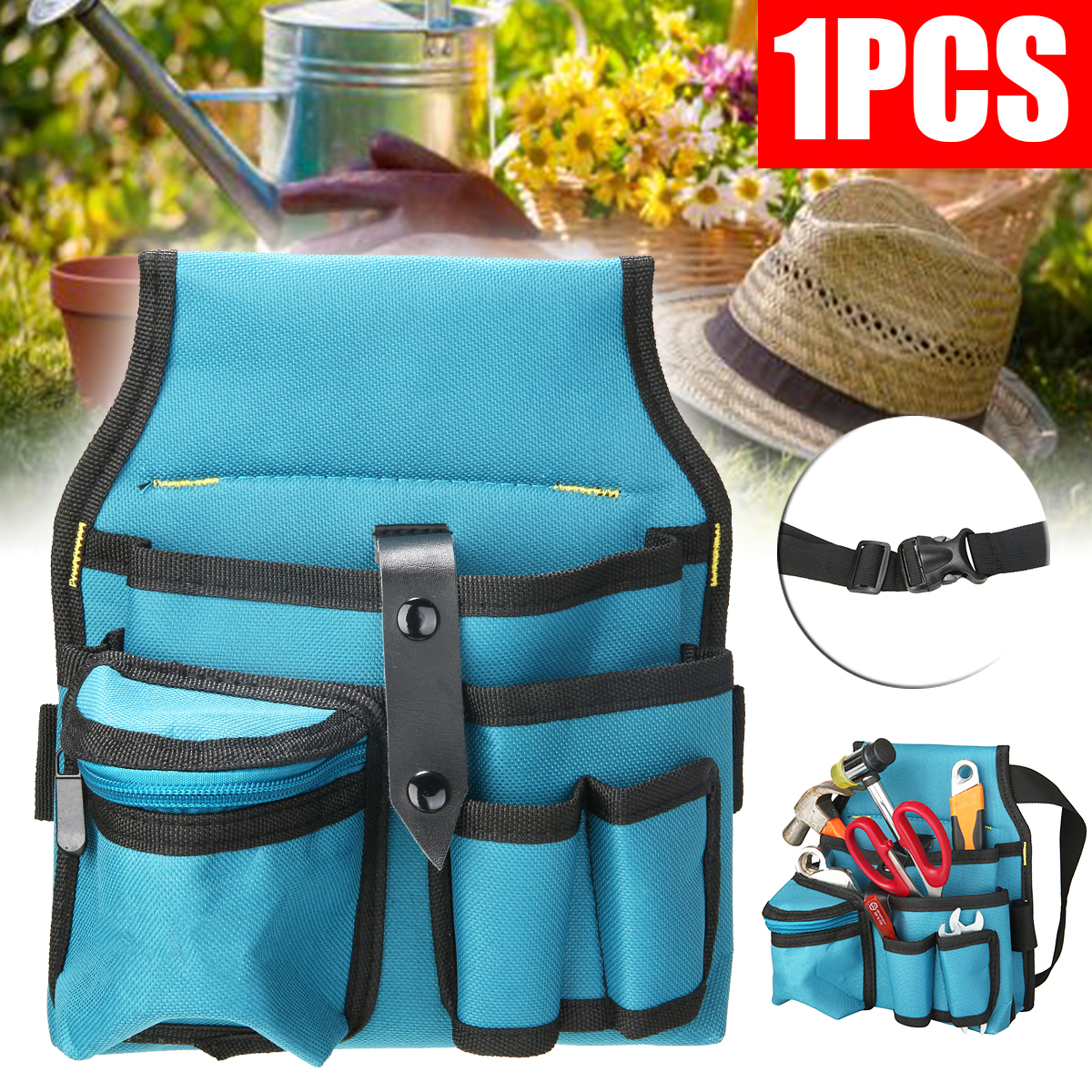 Oxford Tool Bag Belt Waist Pocket Bags Outdoor Waterproof Working Tool Storage Bags Gardening Tool