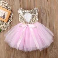 Vestido de princesa para bebé, sin mangas, lentejuelas, fiesta, cumpleaños, bautismo, Verano