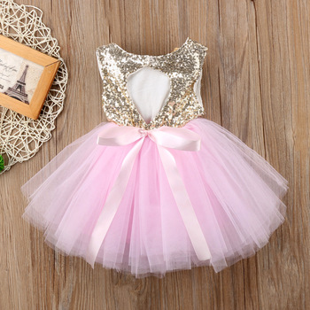 Princess Kids Baby Dress For Girls Fancy Wedding Dress Sleeveless Sequins Party Birthday Baptism Dress For Girl Summer Dresses baby girl dress pink flower sleeveless ball gown princess wedding dresses girls baptism 1 year vestido infantil 6m 4y