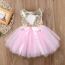 Princess Kids Baby Dress For Girls Fancy Wedding Dr