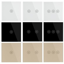 Ab standart ışık duvar dokunmatik anahtarı güç sensörü anahtarları beyaz siyah altın kristal cam 1 2 3 Gang 1 yollu çinden Makerele