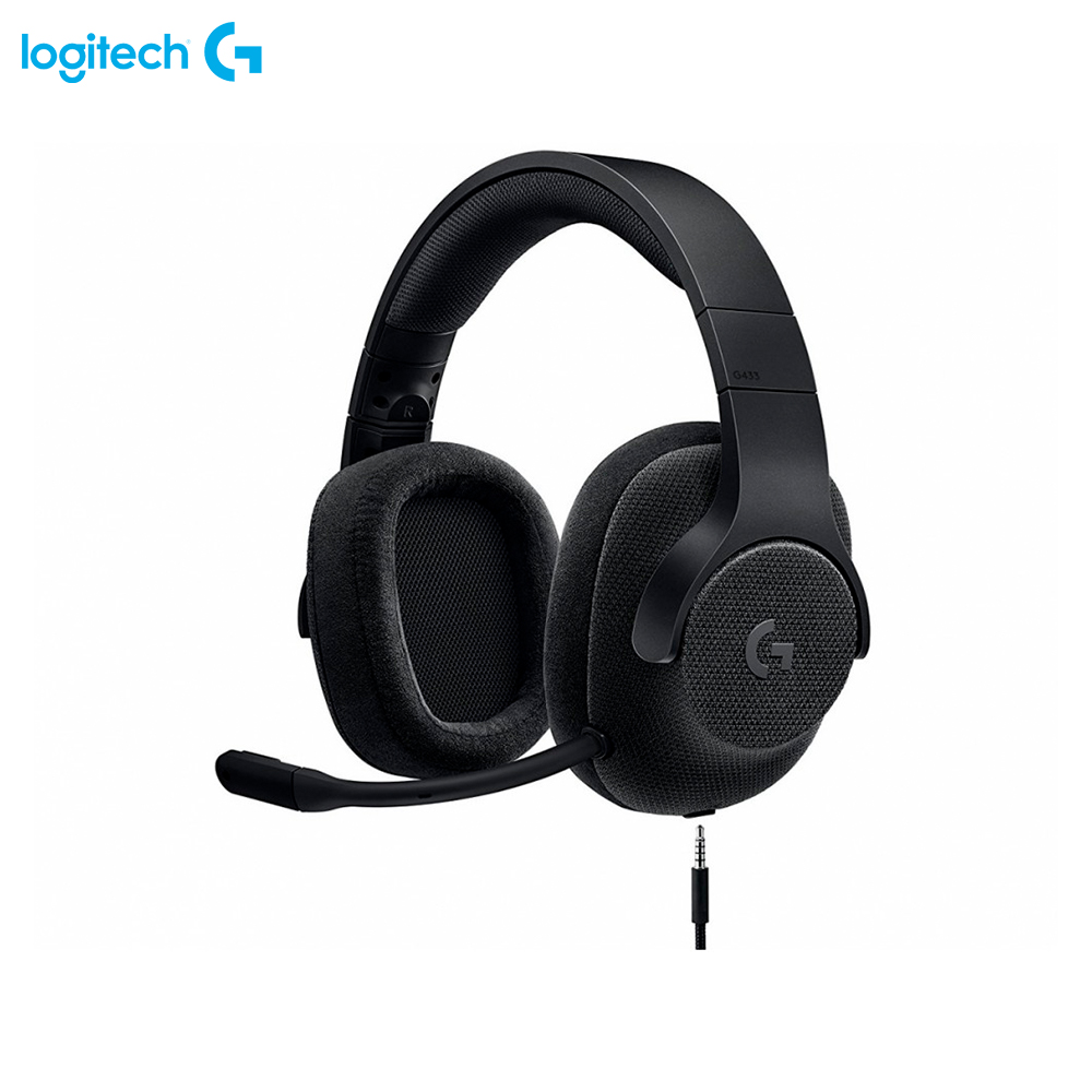 Фото - Earphones & Headphones Logitech G433 Triple Black 981-000668 computer wired wireless headset gaming somic g949de virtual 7 1 gaming headset with microphone for computer usb headphones with double speaker units