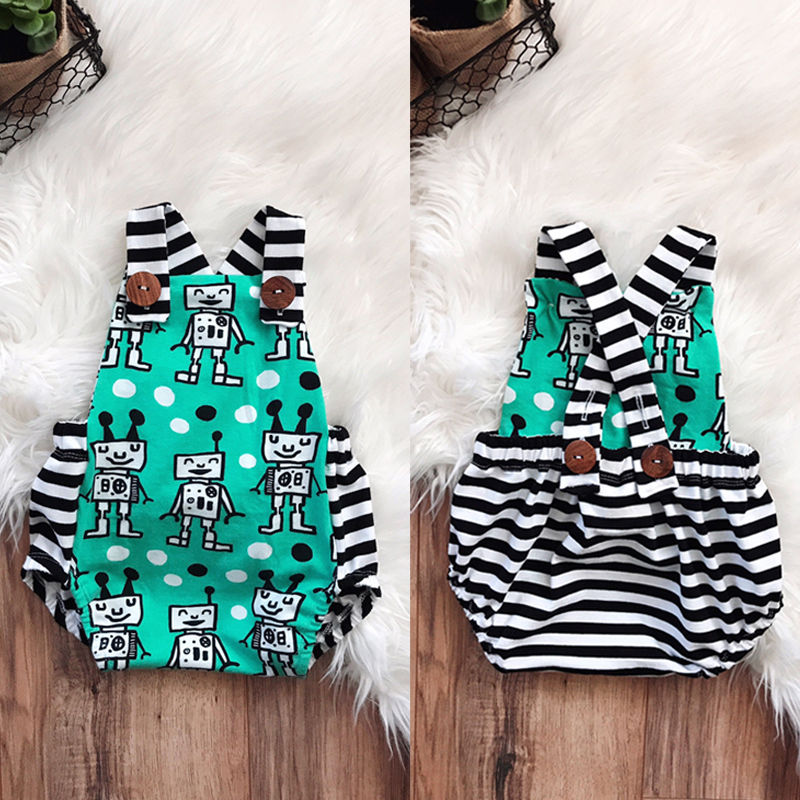 Pudcoco Girl Jumpsuits 0-24M Newborn Baby Boys Girls Romper Jumpsuit Backless Summer Clothes Outfits