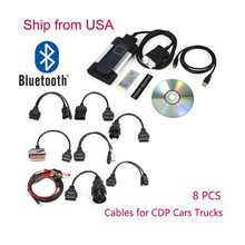 New Bluetooth TCS CDP Pro Plus Diagnostic Scanner For Autocom OBD2 Diagnostic Tool 8 Car Cables(China)