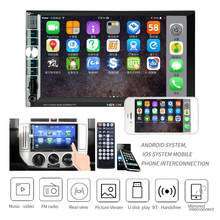 "2 Din 7 ""Touch Screen Car Radio Dash MP5 Auto Digitale Multimedia Speler Spiegel Link ondersteuning Android IOS systeem telefoons(China)"