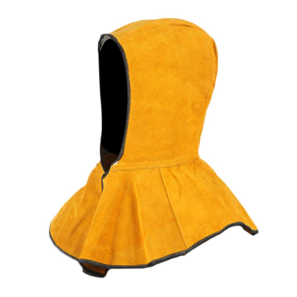 Protective Equipment Washable Flame Retardant Helmet Leather Foot Welding Neck Face Protection Welder Hood Tools