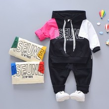 Spring Autumn Infant Clothing Suits Baby Boys Girls Clothes Kids Sport Hooded Sweater Pants 2pcs/Sets Children Toddler Tracksuit spring autumn boys clothing sets children sport suit toddler tracksuit girls tshirt pants baby sweatshirt cartoon casual clothes