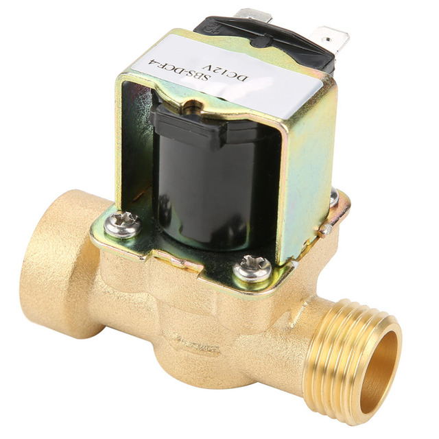 1 Pcs Brass DN15 G1/2 Normal Pilot-operated Water Inlet Electric Solenoid Valve DC 12V Electric Water Valveselenoid valf