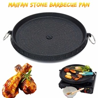 Portable Smokeless BBQ Barbecue Grill Plate Pan Gas Household Outdoor Non Stick Gas Stove Cooking Plate BBQ Tool Travel Party