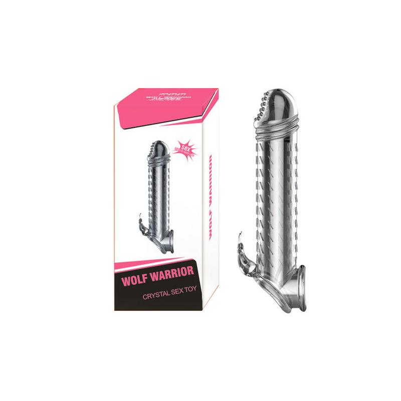 Transparent Nail - Shaped Cover Condom Crystal Couple Toy Adult Sex Products Fun Spike