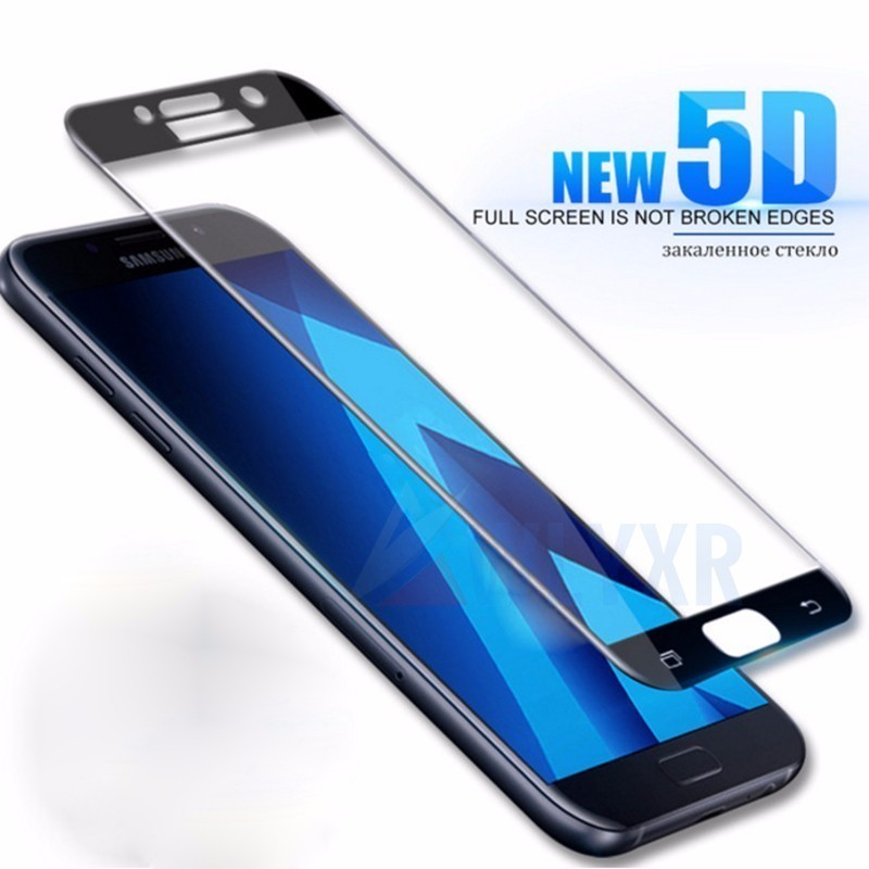 J7pro Case 5d Glass <font><b>Screen</b></font> Protector For Samsung <font><b>Galaxy</b></font> J6 A8 A6 Plus <font><b>2018</b></font> A3 <font><b>A5</b></font> A7 J3 J5 J7 Prime 2017 Pro Cover Curved Film image