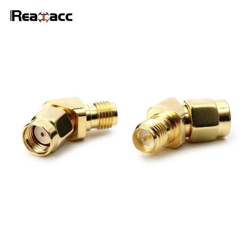 1 piezas Realacc 45 grados adaptador de antena de conector SMA RP-SMA conexión para RX5808 0 Fatshark gafas RC Quadcopter Accesorios