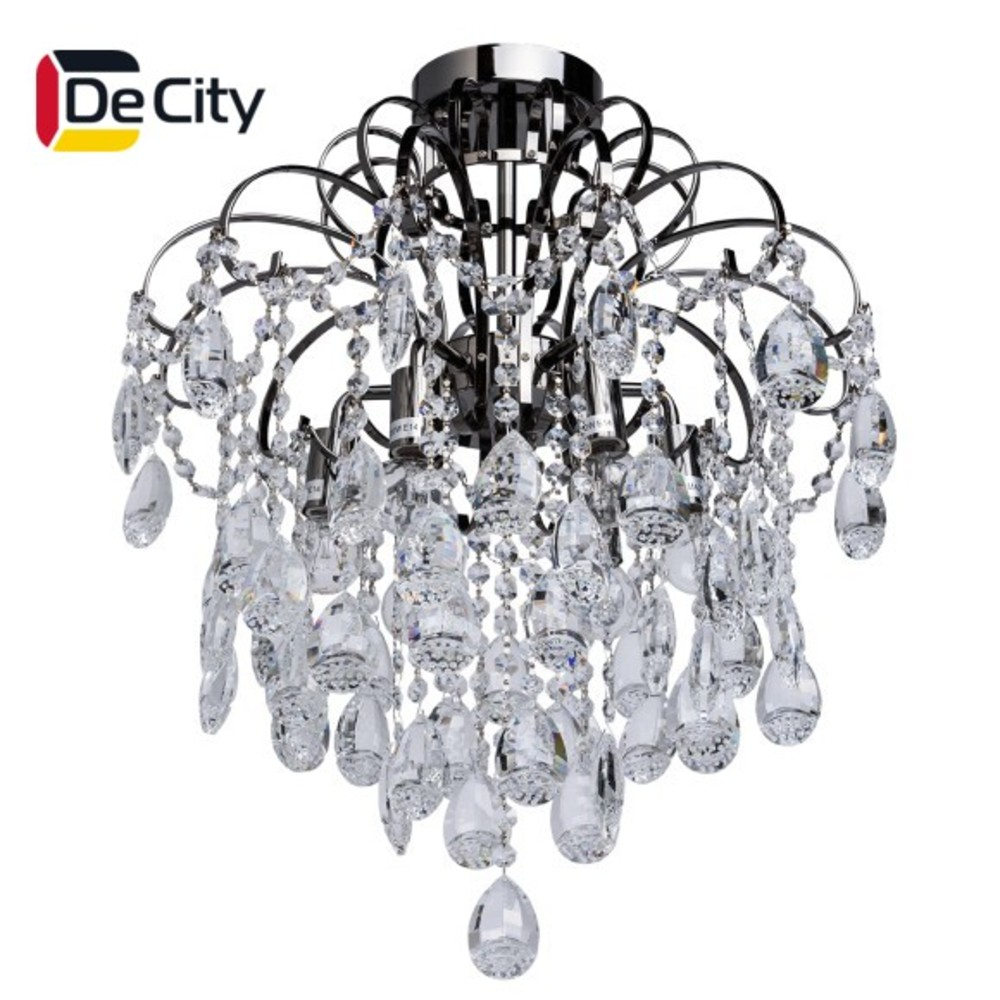 Фото - Chandelier Crystal DeCity 464017206 ceiling chandelier for living room to the bedroom indoor lighting creative led restaurant lamp chandelier modern minimalist hotel atmosphere living room lamp villa project large candle crystal