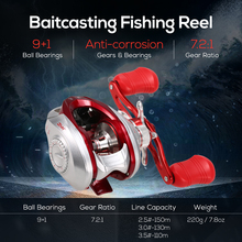 Fishing Reels 9+1BB 7.2:1 High Speed 5kg Max Drag Power Baitcasting Reel Bait Casting Fishing Reel Carp Fishing Tackle kastking assassin 7 5kg drag carbon baitcasting reel right left hand carp fishing reel high speed 6 3 1 lure reel