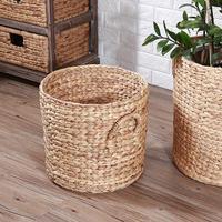 Creative Hand woven Laundry Basket Fruit Basket Plant Flowerpot Basket Toy Clothes Debris Storage Bags Home Container Supplies