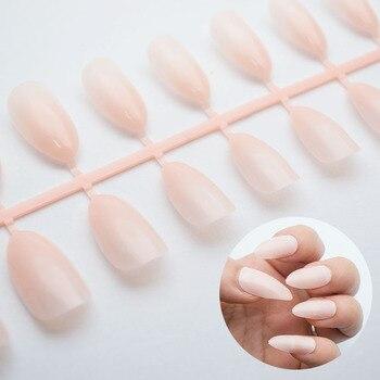 24Pcs/Set Water Drop Shape Fashion Stiletto False Nails 8 Colors Sharp Head Full Cover Detachable False Nails Tips JZJ3002 artificial nails
