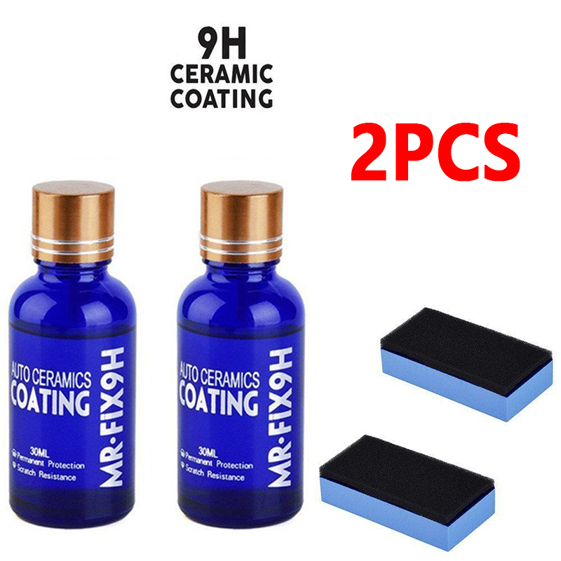 1/2/3pcs 9H Nano Ceramic Car Glass Coating Liquid Hydrophobic Anti Scratch Auto Care Accessories Parts For Cars Body