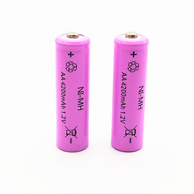10PCS/LOT AA Battery NIMH 4200Mah 1.2V 2A Ni-Mh Rechargeable Batteries Bateria Baterias