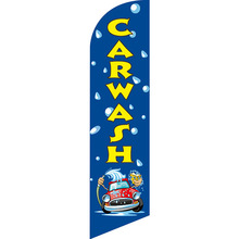 Free Ship Custom CAR WASH Graphic Beach Flag Knitted Polyester Banner Swooper Single Sided Feather Hotsale