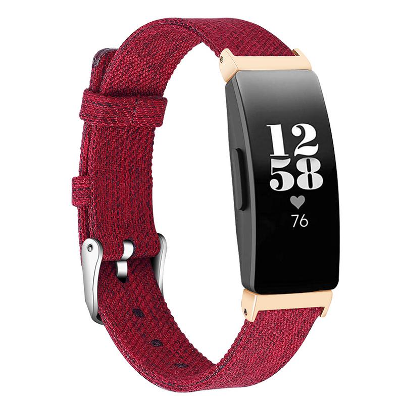Image 3 - Smooth Watch Bands Classic Canvas Straps With Metal Connector Replace Durable Women Men Wristband Wear Resistant Fitness Tracker-in Smart Accessories from Consumer Electronics