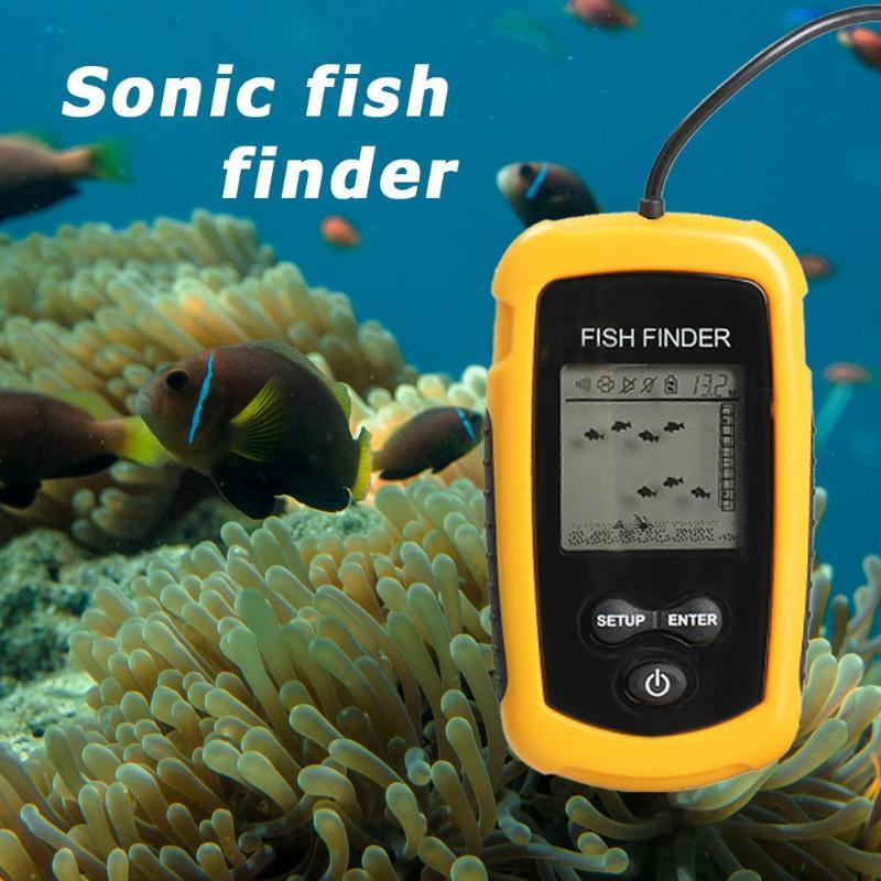 TL88 Angeln Verdrahtete Fisch Finder 0,7-100 m Tiefe Sonar Sensor Echolot Alarm ABS Fishfinder Angeln Werkzeug Zubehör