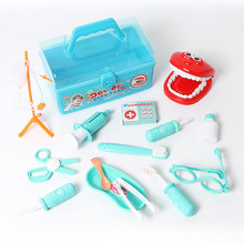 Pretend Play 15Pcs/Set Doctor Game Dentist Box For Children Portable Suitcase Educational Real Life Funny