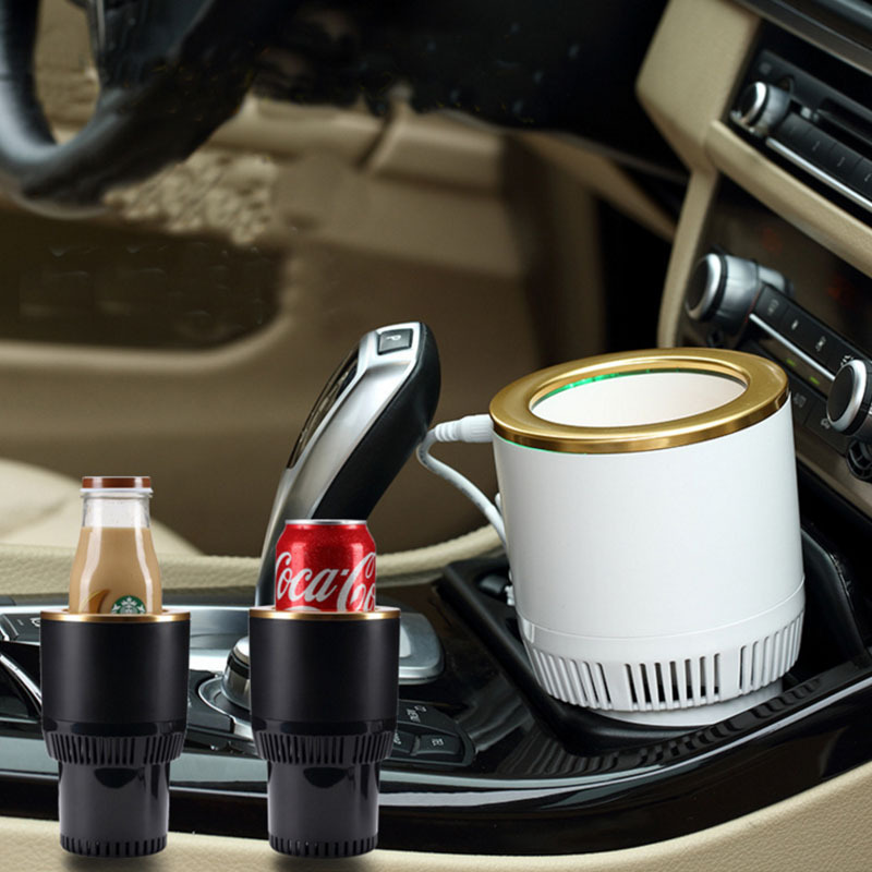 Car Hot and Cold cup Freezing Heating portable hot cup drink holder beverage can cooler in Refrigerators from Automobiles Motorcycles