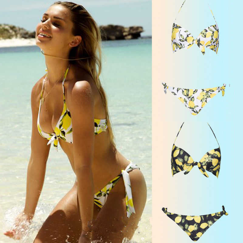 81f1f8268db7c New Arrivals Womens Sexy Two Piece Brazilian Bikini Set Push-Up Bathing  Swimwear Swimsuit Bandage