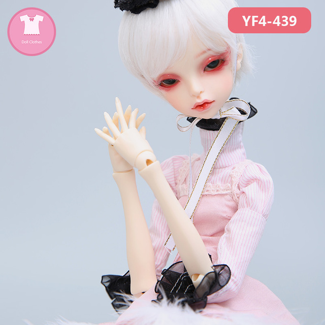 BJD Clothes 1/4 Doll Body For MSD Female Girl Black Dress YF4 to 365 For DC Queena Toy Doll Accessories
