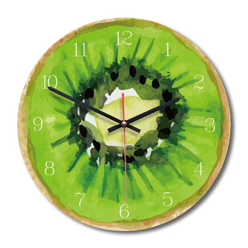 New 3D Wall Clock Simulation Fruit Wall Clock Modern Design Nordic Quartz 28cm Wall Clock For Living Room Accept Dropshipping