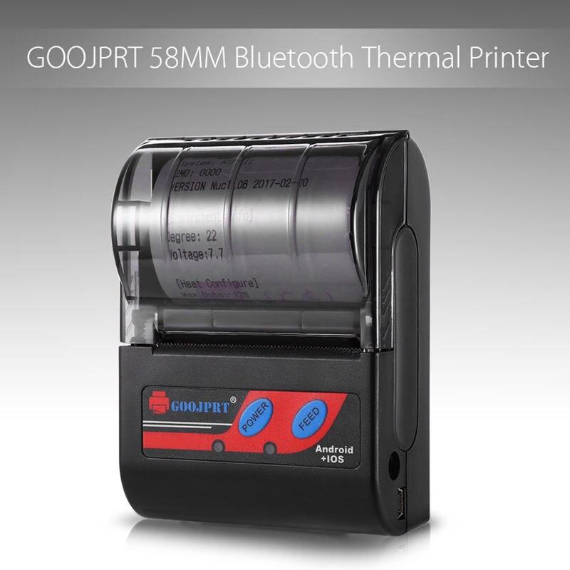 Goojprt Mtp-Ii 58 мм Bluetooth термопринтер портативный беспроводной Чековая машина для Windows Android Ios Eu Plug