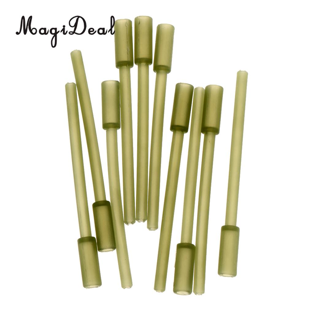 MagiDeal 10/20/30pcs Plastic Angling Supplies Plastic Inline Carp Coarse Lead Mould Inserts Tubes 60mm Fishing Tools