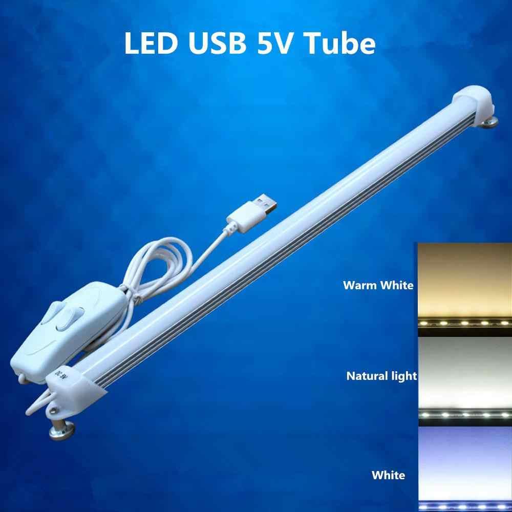 ĐÈN LED Ống USB 5 V 52 cm Đèn Huỳnh Quang Ống 3 Màu Thay Đổi Chuyển Đổi Mờ  Học ĐÈN LED Dán Tường|Bóng Đèn & Ống Đèn LED