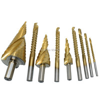 Wood Working Titanium Drill Reamer Saw Router Rotary File 3mm 4mm 5mm 6mm 6.5mm 8mm + Hss Step Drill Bit 4-32mm 4-20mm 4-12mm