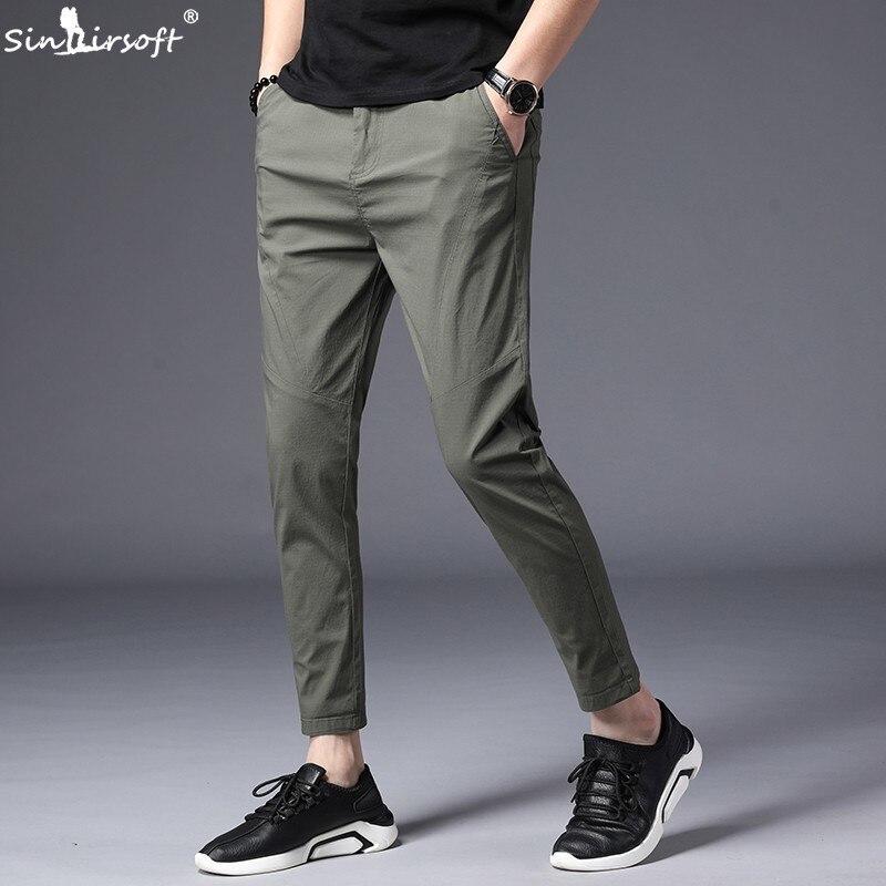 Trousers Men Casual-Pants Business Classic Ankle-Length Causal Pantalon Harem Straight
