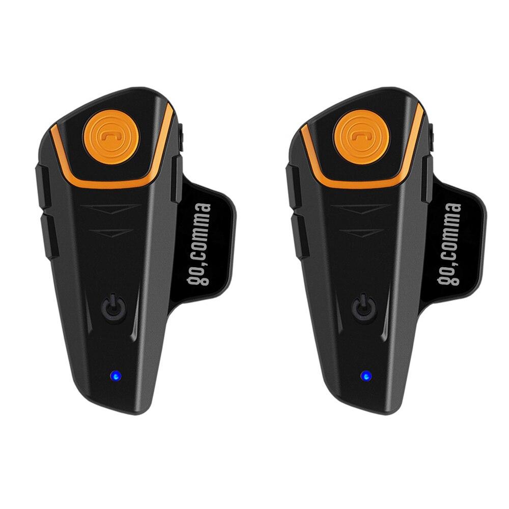 2 pcs BT-S2 1000 m Bluetooth Capacete Da Motocicleta Headsets Interfones Interfones Auto Resposta Handsfree Rádio FM