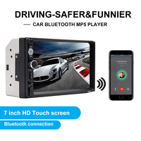 Mesuvida 7010B 7 inch Car Bluetooth Hands free Call Audio Display MP3 Player Support TF Card USB Devices AUX Audio For MP3MP4MP5